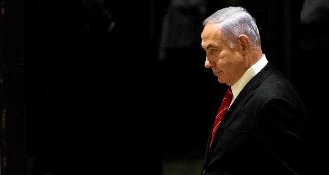 Israeli Prime Minister Benjamin Netanyahu arrives to a nomination ceremony at Israeli President Reuven Rivlin's residence in Jerusalem, Sept. 25, 2019. (Reuters Photo)