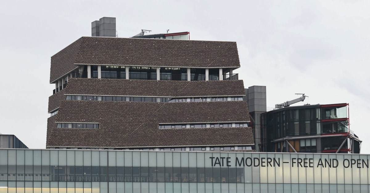 The viewing platform of the Tate Modern gallery after it was put on lockdown and evacuated after an incident involving a child falling and being airlifted to a hospital.