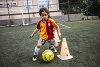 Iranian child soccer prodigy trains in Turkey