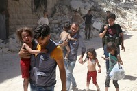 Syrian regime pounds Aleppo, thousands of people face food shortage