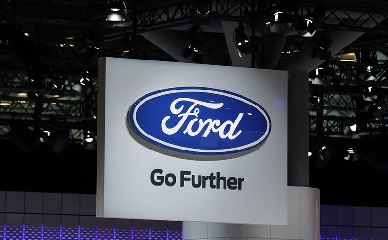 The FORD logo is seen the during media preview day at New York International Auto Show at the Jacob K. Javits Center in New York City, New York (EPA Photo)