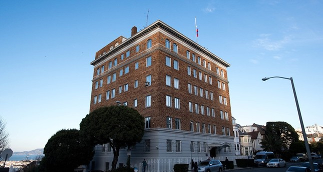 Pictured, file photo of the Russian Consulate-General in San Francisco, California. AFP Photo
