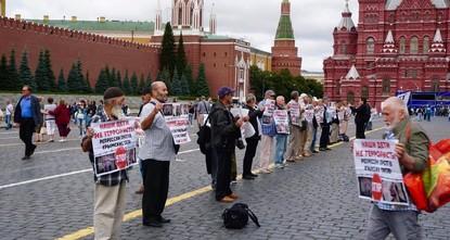Возле Кремля задержали 7 протестующих крымских татар