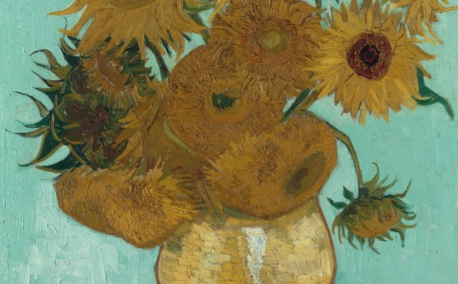 "The ""Sunflowers"" at the Neue Pinakothek in Munich."