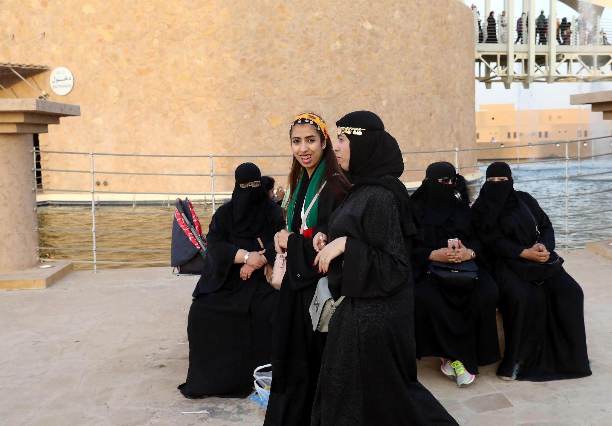 Saudi women at Al- Janadria festival near Riyadh, Saudi Arabia, 17 February 2018. (EPA Photo)