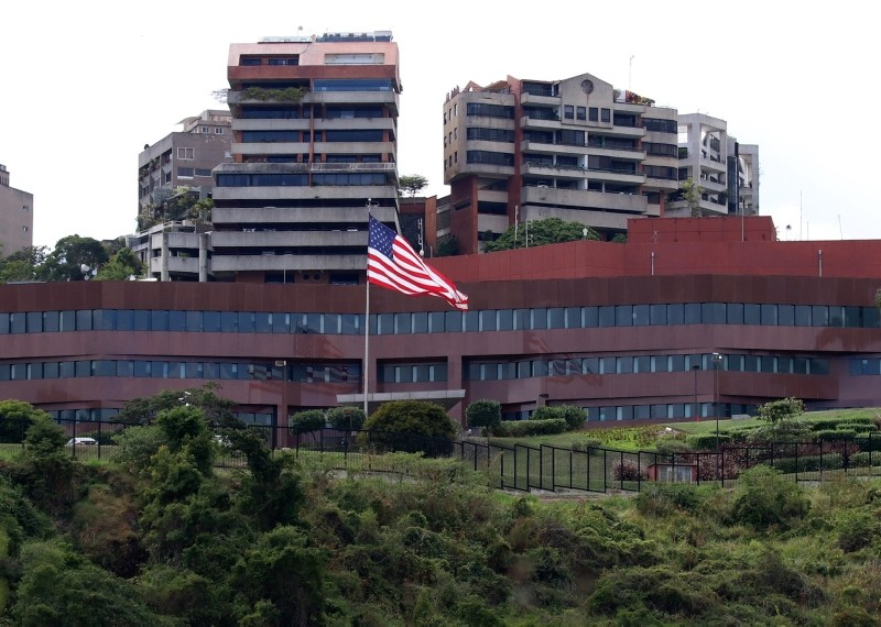 US Embassy compound in Venezuelan capital Caracas. (AA Photo)