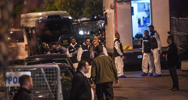 Forensic experts arrive at the Saudi Arabia's Consulate in Istanbul on Monday to search the premises in the investigation over missing Saudi journalist Jamal Khashoggi.
