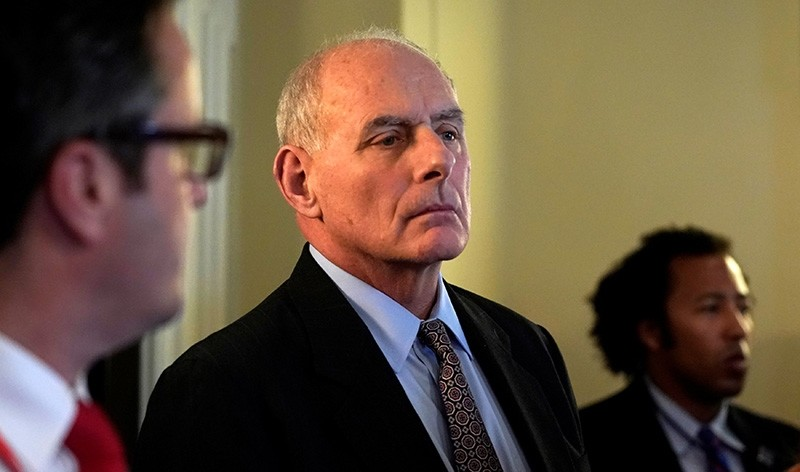 White House Chief of Staff John Kelly listens as U.S. President Donald Trump meets with bi-partisan members of Congress at the White House in Washington, U.S., Feb. 28, 2018. (Reuters Photo)