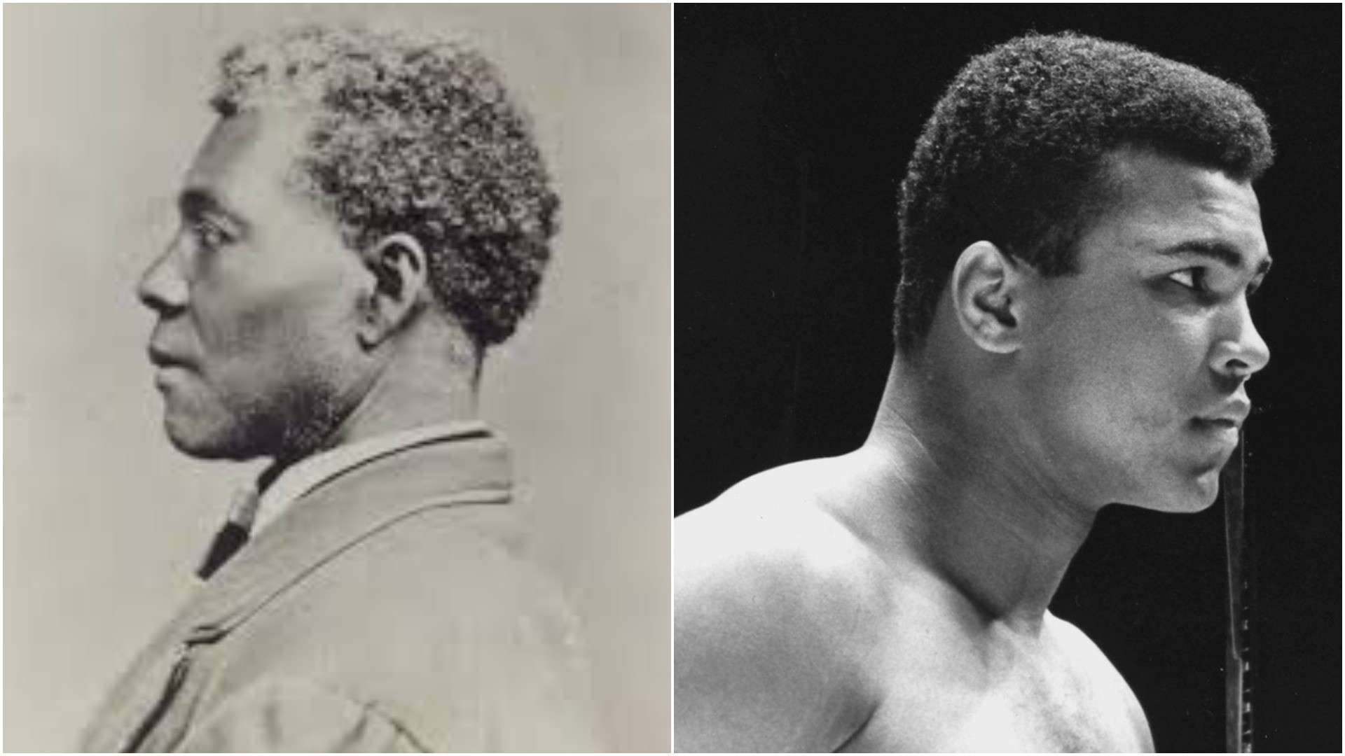 Archer Alexander, sometime between 1865 and 1875 and Muhammad Ali (R). (Missouri History Museum/Wikicommons; Associated Press Photo)