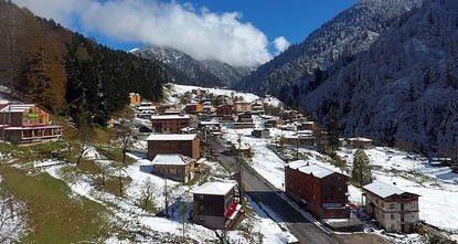 Ayder Plateau takes on different beauty with snowfall
