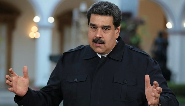 Handout picture taken on January 29, 2019 and released by the Venezuelan Presidency on January 30 shows Venezuela's President Nicolas Maduro speaking at the Miraflores presidential palace in Caracas. (AFP Photo)