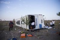 4 dead, many injured in bus crash on Ankara-Konya highway