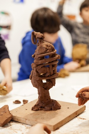 Children will explore their inner selves and will learn many extraordinary ways of self-expression in mud statues workshop.