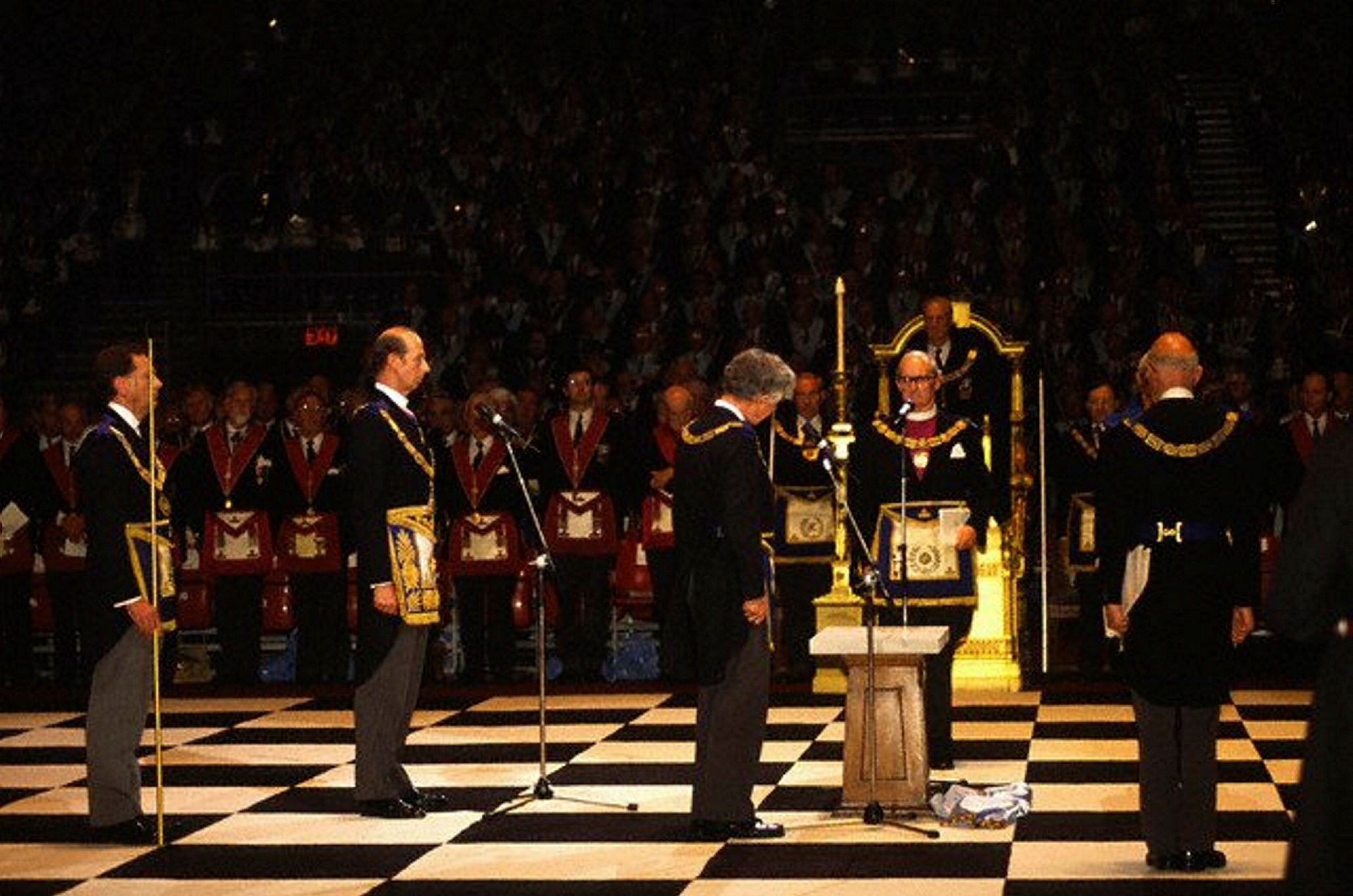 Prince Edward, The Duke of Kent at a Masonic ceremony at Earls Court in London. (File photo / Image by u00a9 Stuart Freedman/In Pictures/Corbis)