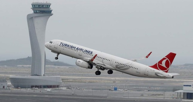 In this file photo a Turkish Airlines Airbus A321-200 plane seen taking off from the city's new Istanbul Airport. April 6, 2019. Reuters Photo