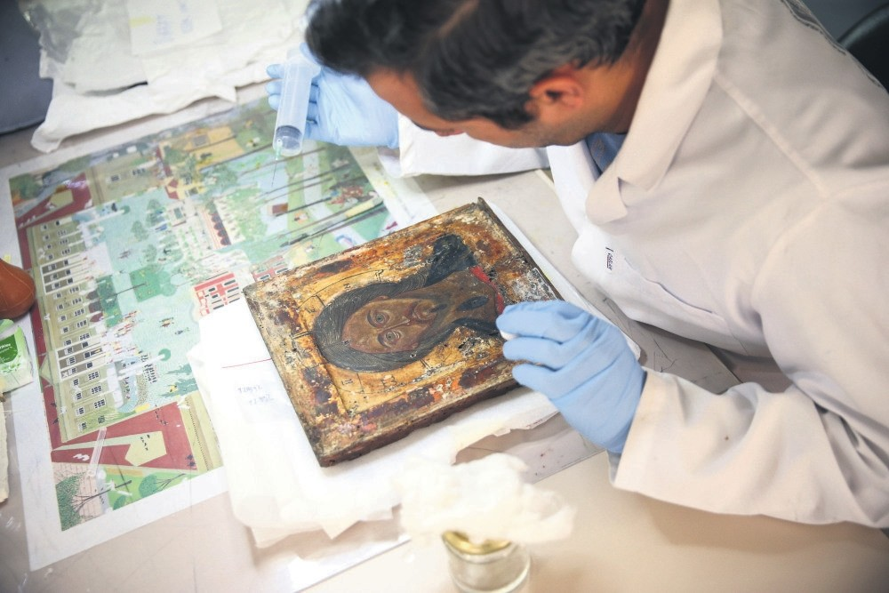 Experts have completed conservation work on 45 icons so far.