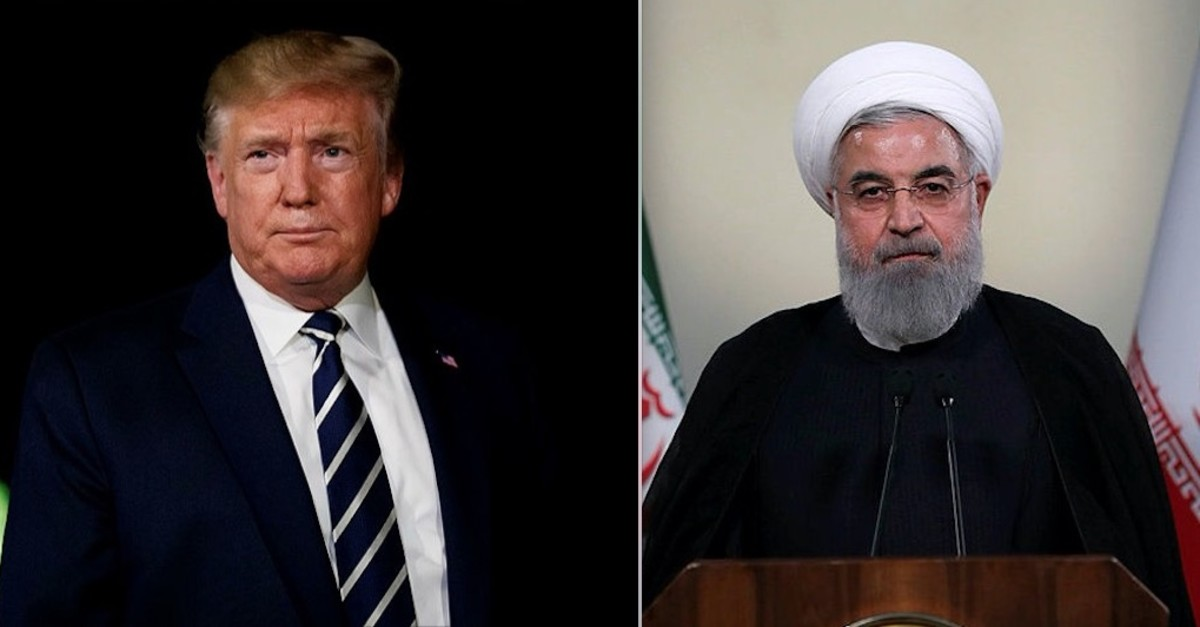 US President Trump (L) and Iranian counterpart Rouhani