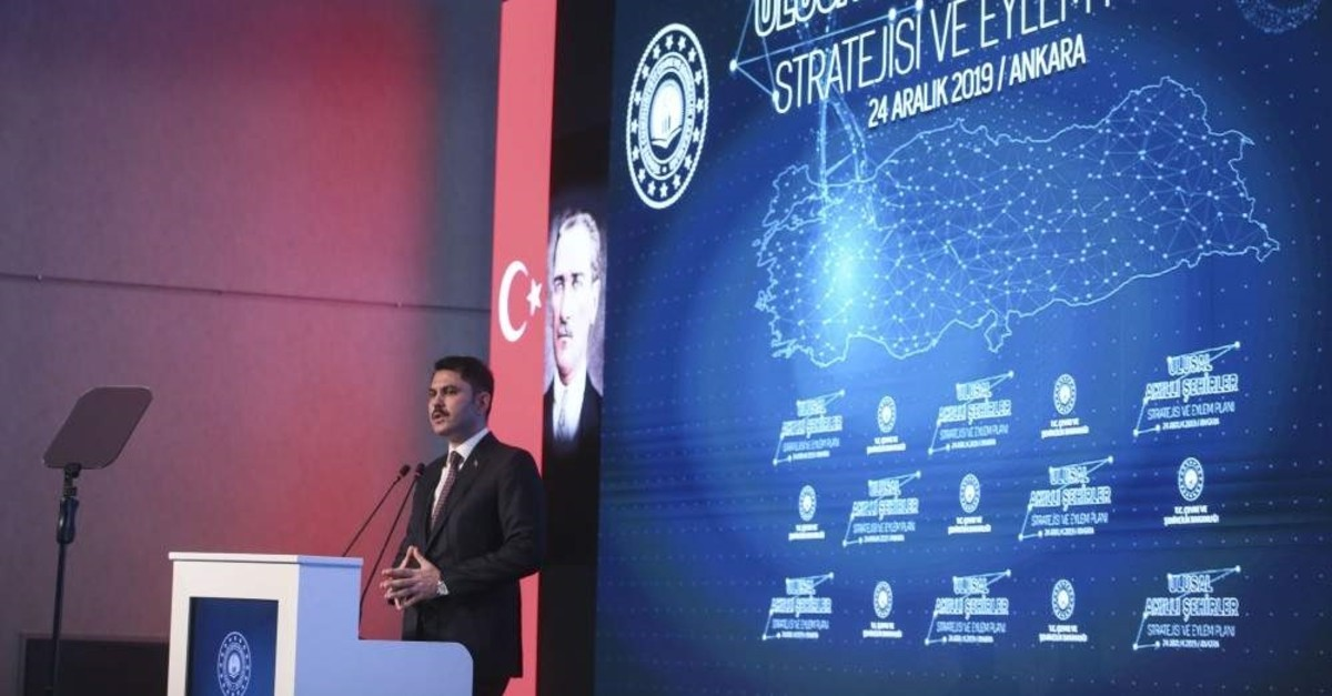 Minister of Environment and Urban Development spoke about the strategy and action plan for smart cities, Ankara, Dec. 24, 2019. (AA Photo)
