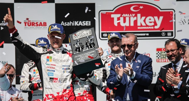 Estonian pilot completes hattrick of world rally victories: Tanak storms into title contention in Turkey