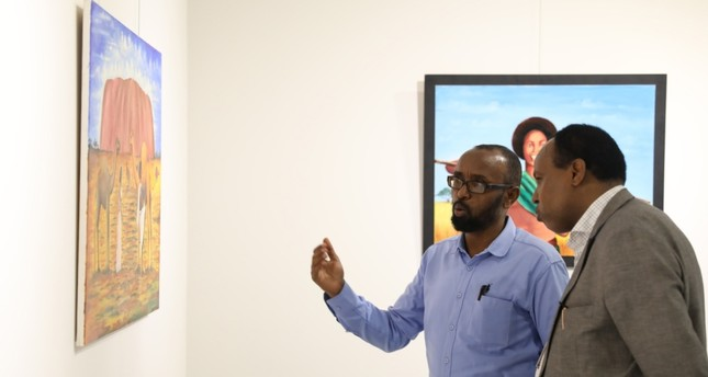 Nabadoon, which present paintings representing the Somali culture, is on display until July 7, 2019.