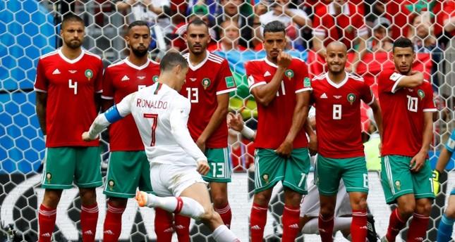 من مشاركة المغرب الأخيرة في كأس العالم 2018 (رويترز)