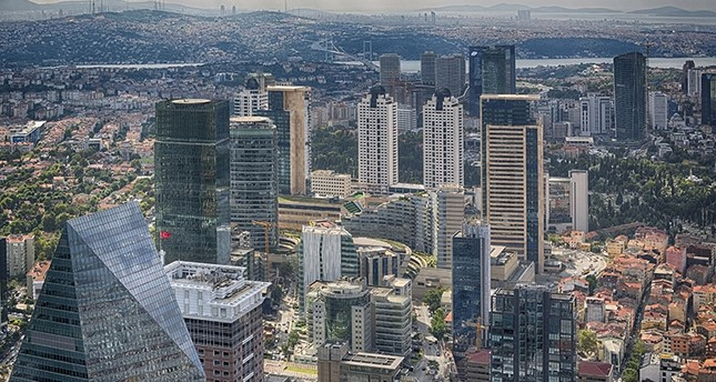 An aerial view of the Levent business district in Istanbul. iStock Photo