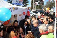 President Erdoğan visits 'no' campaign tent in Istanbul