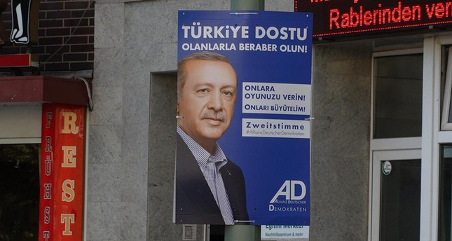 Erdoğan appears on campaign posters in Germany