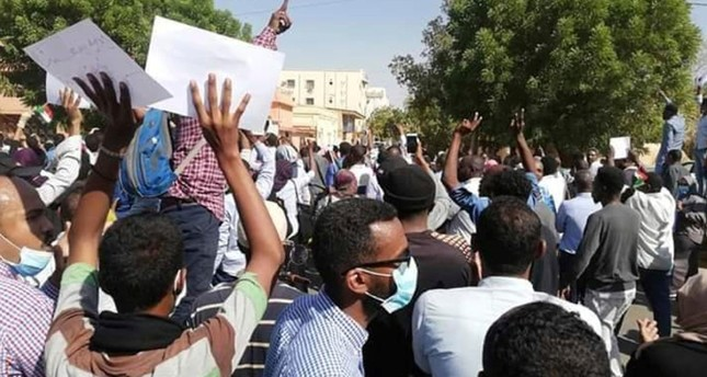 In this Tuesday Dec. 25, 2018 handout photo provided a Sudanese activist, people chant slogans during a demonstration in Khartoum, Sudan. (AP Photo)