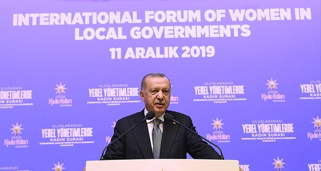 AK Party aims to boost women's role in politics, Erdoğan says