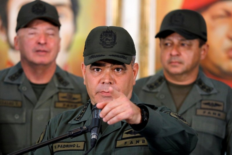 Venezuela's Defense Minister Vladimir Padrino Lopez attends a news conference in Caracas, Venezuela, February 19, 2019. (REUTERS Photo)