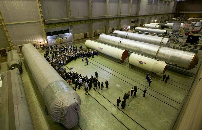 A general view shows a workshop of the factory Yuzhmash during Ukrainian President Petro Poroshenko's visit in Dnipro (Dnipropetrovsk), Ukraine, October 21, 2014. (Reuters Photo)