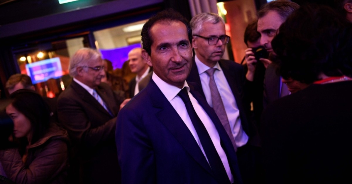In this file photo taken on November 7, 2016 Altice CEO Patrick Drahi arrives for the launch of the new television channel BFM Paris in Paris. (AFP Photo)