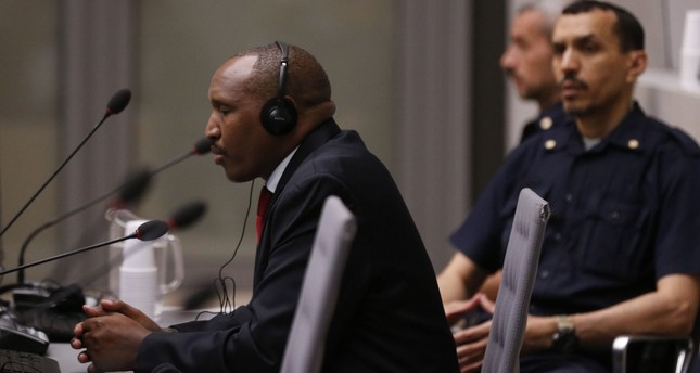 Former Congolese warlord Bosco Ntaganda speaks during his trial at the International Criminal Court (ICC) in The Hague, The Netherlands, on July 8, 2019. (AFP Photo)