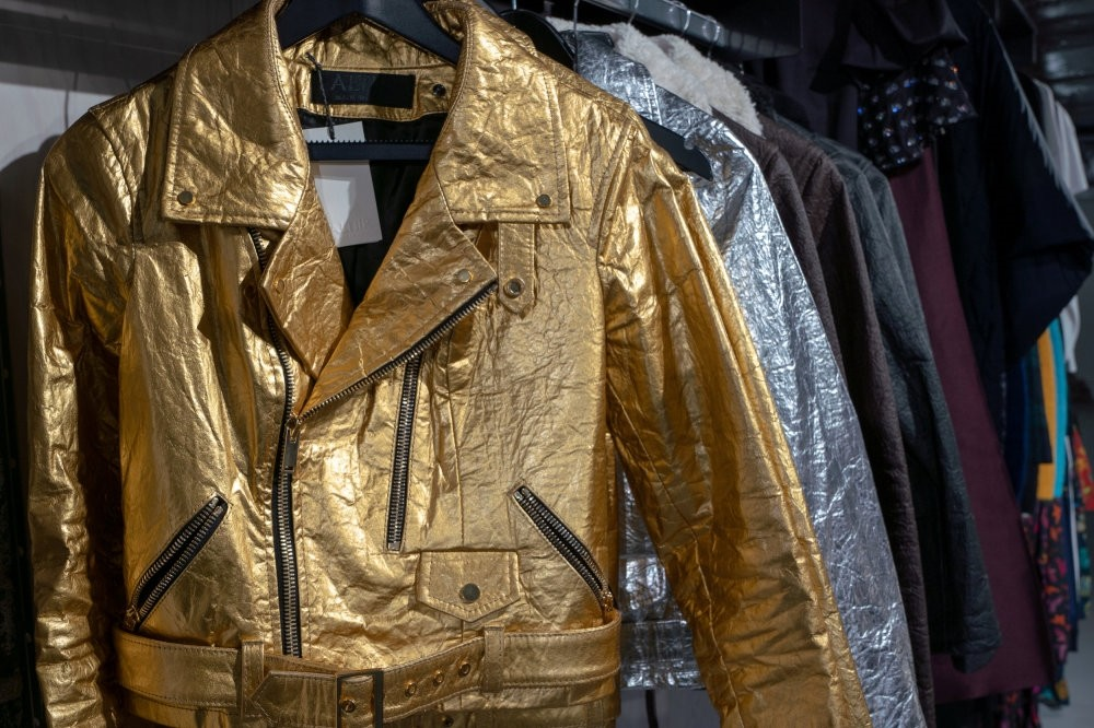 Altiir's biker-style jackets are made from pineapple fibers.