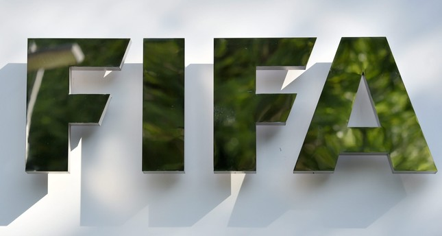 The logo of the international soccer governing body 'Federation Internationale de Football Association' (FIFA) is pictured prior to a press conference at the FIFA headquarters in Zurich, June 2, 2015. (EPA Photo)