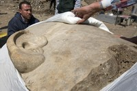 Archaeologists unearth more of Rameses II statue in Cairo