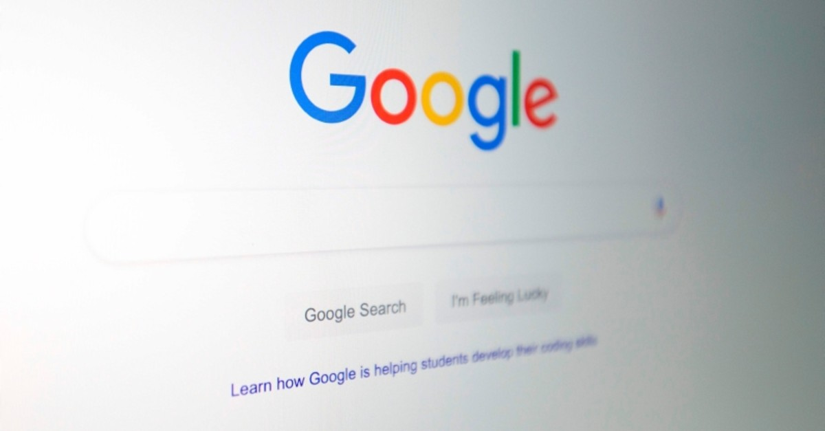 In this file illustration picture taken on July 10, 2019, the Google logo is seen on a computer in Washington, DC. (AFP Photo)