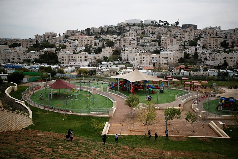 A playground is seen in this general view picture of the Israeli settlement of Modiin Illit in the occupied West Bank March 27, 2017. (Reuters Photo)