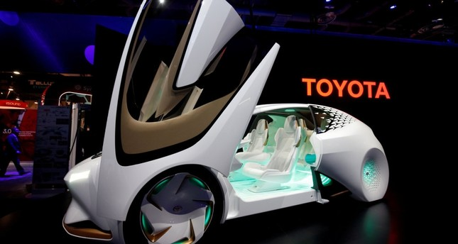 A Toyota Concept-i displayed at the 2017 CES in Las Vegas.