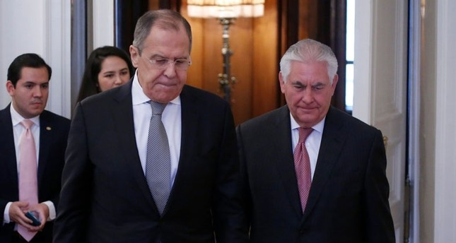 Lavrov (L) and Tillerson (Reuters Photo)