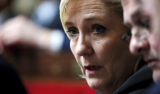 Member of parliament Marine Le Pen of France's far-right National Front (FN) political party attends the questions to the government session at the National Assembly in Paris, France, Feb. 20, 2018. (Reuters Photo)