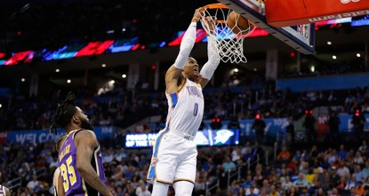 Westbrook makes history with 20-20-20 triple-double