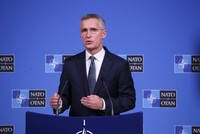 NATO's Stoltenberg sees 'encouraging' progress in Syria