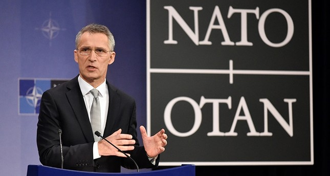 NATO Secretary-General Jens Stoltenberg gives a press conference on the second day of a Nato Defence ministers council meeting at the organisation's headquarters in Brussels on February 15, 2018. (AFP Photo)