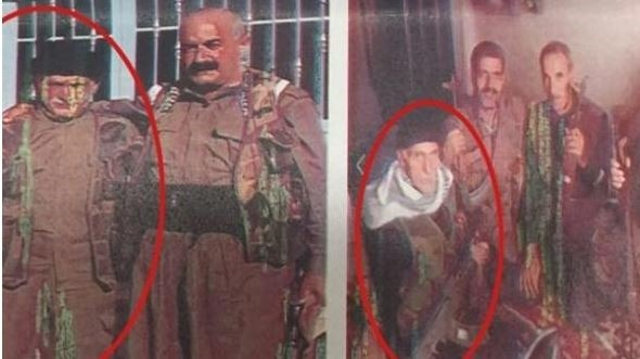 Nizamettin C. is seen in these old pictures where he stands next to other militants. (IHA Photo)