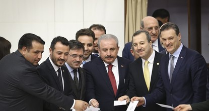 AK Party candidate Şentop elected Parliament speaker