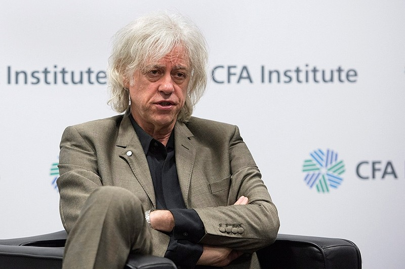 In this May 11, 2016, file photo, musician-activist Bob Geldof speaks to reporters following his speech at the CFA Institute annual conference in Montreal (AP Photo)