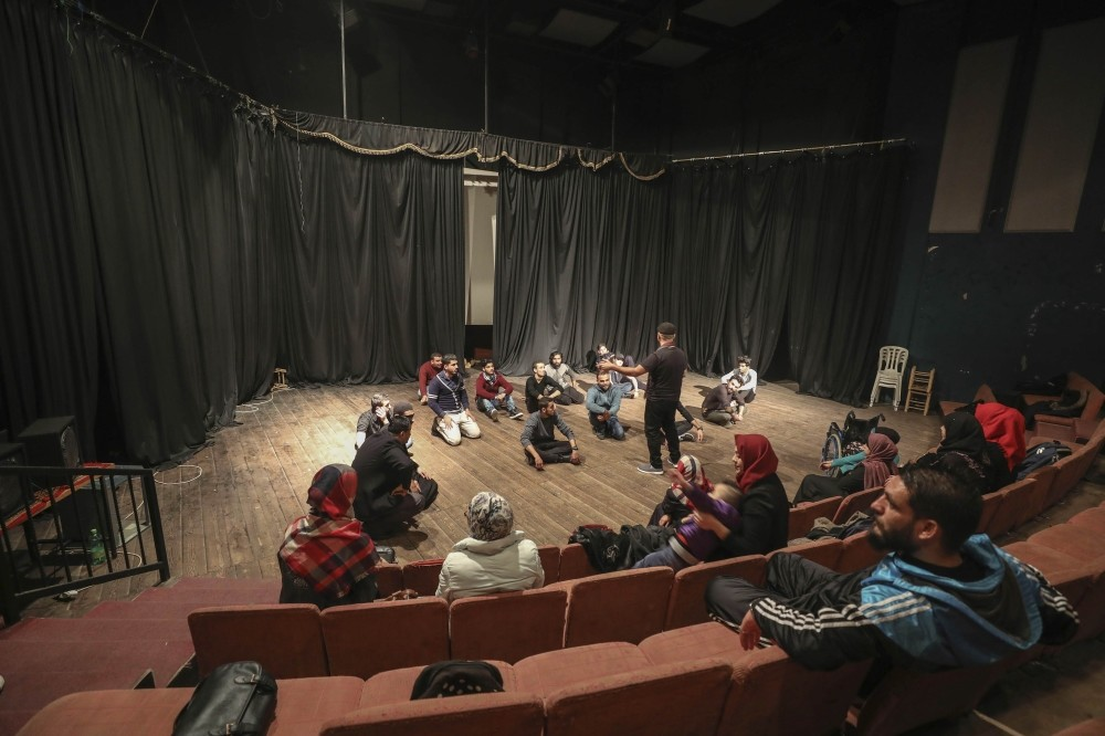 The academy, where 47 young people, among which seven are handicapped, get training, is the first institution that conducts work in this field in Gaza, January 13, 2019.