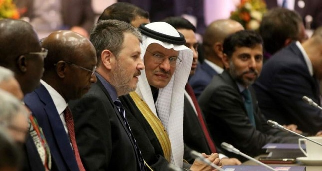 Saudi Prince Abdulaziz bin Salman Al Saud C, the kingdom's minister of energy, at a meeting of the Organization of the Petroleum Exporting Countries OPEC in their headquarters in Vienna, Austria, Dec. 5, 2019. AP Photo